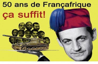 '50 years of Françafrique is enough!' - Demonstration poster (2010) from website Survie.org