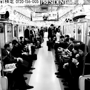 Commuting to work, Japan. Photo by Flickr user Miguel Michán (CC BY-NC 2.0).