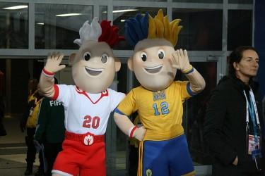 UEFA Euro 2012 mascots - Slavek and Slavko. Photo by Roger Gorączniak (CC BY 3.0)