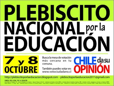 """National Plebiscite for Education"" poster"