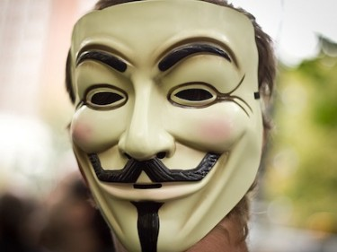 'Anonymous' mask. Image by Flickr user luccast85 (CC BY 2.0).