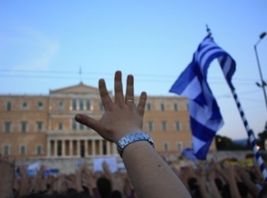 Mass 'Indignant' protest in Athens. Image by endiaferon, copyright Demotix (29/05/2011).