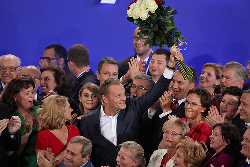 Donald Tusk is the first Polish leader to be re-elected in a consecutive term. Photo by Flickr user PlatformaRP (CC BY-ND 2.0)