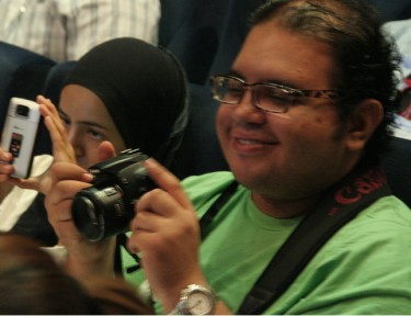 Mohamed ElGohary, co-editor van Lingua Arabisch. Foto van Mohamed Alâa Guedich (gebruikt met toestemming).
