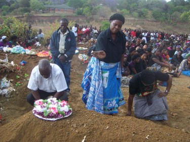 Chasowa's mum bids farewell. Image courtesy of malawivoice.com