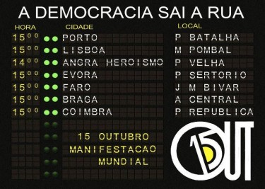 Democracy goes out to the streets: schedule of the demonstrations in the main Portuguese cities.