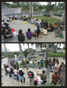 Occupy Jakarta. From Facebook page of Har Wib