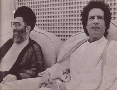 Khamenei with Gaddafi
