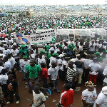 Final rally of Liberia's ruling party. Image courtesy of African Elections Project.