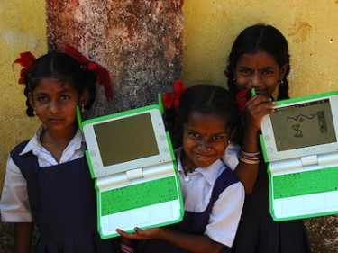 'One Laptop Per Child' project. Image by Flickr user venkylinux (CC BY-NC-SA 2.0).