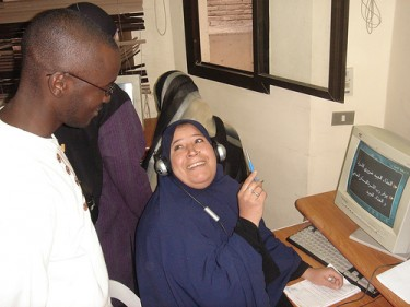 A Resala computer training workshop.