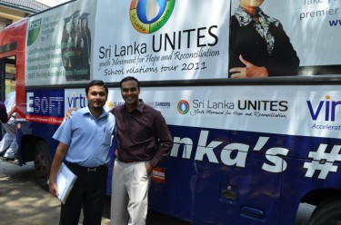 On the 'School Relationship Tour' across Sri Lanka. Image courtesy Sri Lanka Unites.