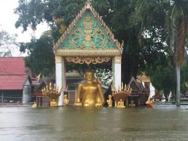 Flooded Temple. Photo from Pailin C