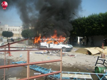 Post-election riots in Sidi Bouzid. Photo by SBZone