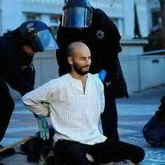 """Pancho"" Ramos being arrested at Occupy Oakland eviction"