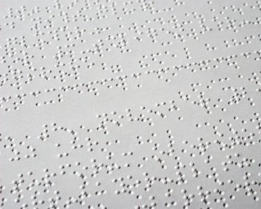 Braille is a tactile alphabet used to make reading accessible for the visually impaired.