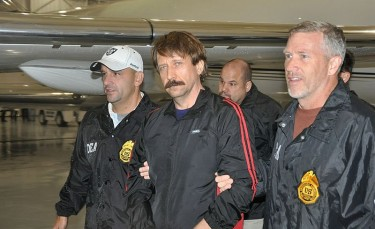Viktor Bout extradited to the United States aboard a Drug Enforcement Administration plane on Nov. 16, 2010. Photo by Drug Enforcement Administration (in the public domain).