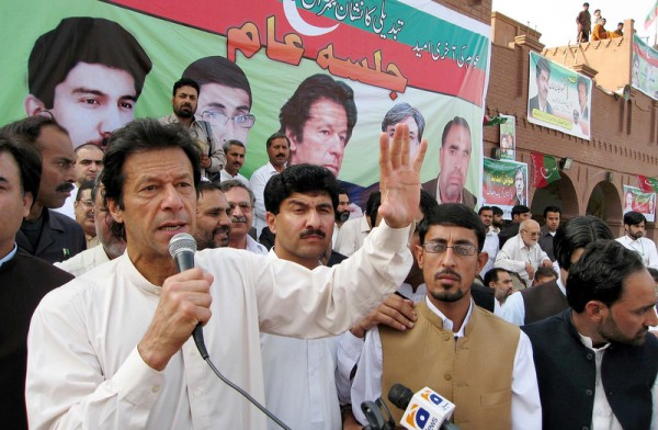 Imran Khan addresses public gathering