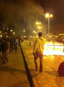 عودة المتظاهرين إلى ميدان التحرير. تصوير شريف عبد القدوس