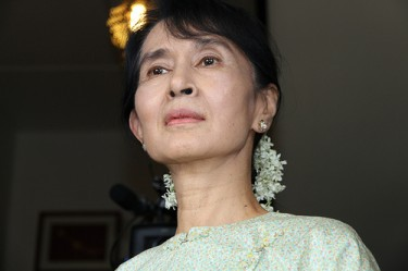 Aung San Suu Kyi, 8 October, 2011. Image by Flickr user Utenriksdept (CC BY-ND 2.0).