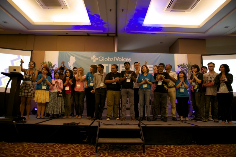 Editores Lian iha Summit, Cebu, Filipinas iha 2015.Foto husi Laura Schneider /Flickr