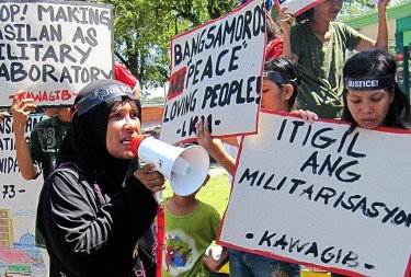 Protest calling for peace in Mindanao