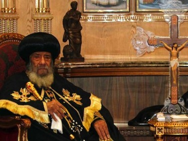 Pope shenouda iii, pope of alexandria and patriarch of saint mark episcopate. image by mahmoud khaled, copyright demotix (14/09/11).