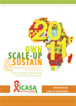 ICASA 2011: Own, Scale-Up and Sustain. Imagen del sitio web de ICASA 2011.