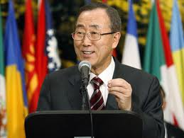 UN Secretary General, Ban Ki- Moon. Pix courtesy of www.chinlandtoday.info