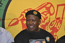 Former President of the ANC Youth League. Photo released under Creative Commons (CC BY-SA 3.0) by Gary van der Merwe.