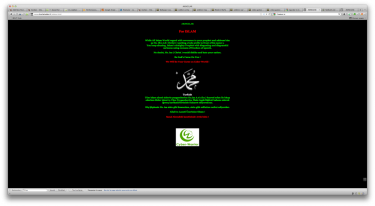 Defaced Charlie Hebdo website