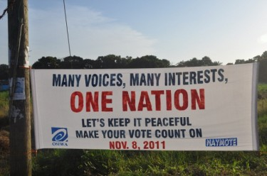 Many Voices, Many Interests, One Nation. Image courtesy of @liberiaelection.