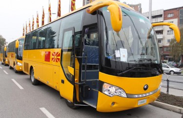 China donates 23 school buses to Macedonia. Image from Macedonia Government Website