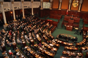The inaugural session of Tunisia's democratically elected constituent assembly. Image by Ibtihel Zaatouri, copyright Demotix (22/11/11).