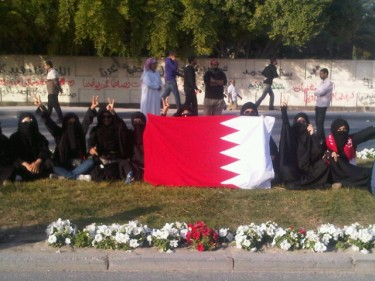 @anmarek: Women sit-in at the funeral of Martyr Ali Algassab