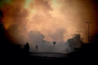 @ONLINEBAHRAIN: Tear gas everywhere