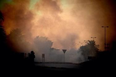 @ONLINEBAHRAIN: Tear gas everywhere