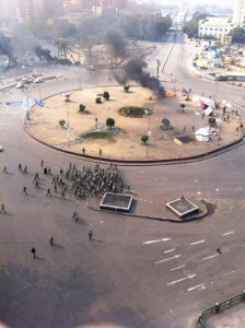 Sharif Kouddous shares this picture of Tahrir Square minutes ago on Twitter