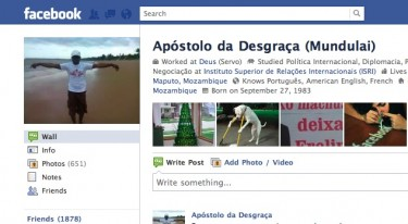 Profile of Apóstolo da Desgraça on Facebook