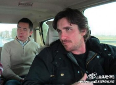 Christian Bale, image from Weibo