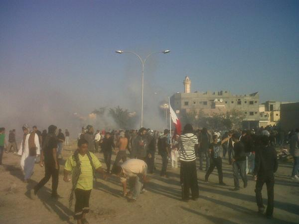 Protesters getting tear-gassed inside the cemetery
