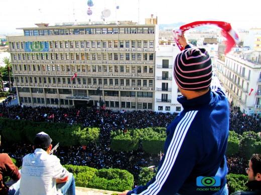 14 gennaio, proteste di fronte al Ministero degli Interni