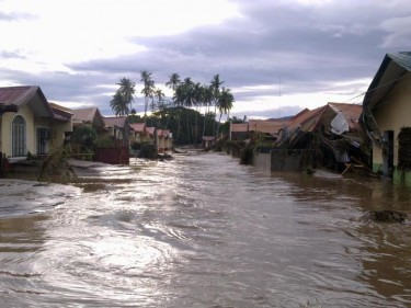 Flooded village. Photo from Rachel Monterona
