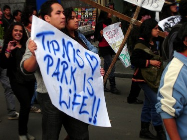 TIPNIS march. Image by Flickr user Pablo Rivero (CC BY-NC-ND 2.0)