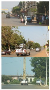 """Military moving around in Bissau"". Photos by Aly Silva, used with permission."