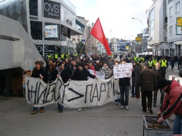 Protest for justice and truth in Skopje, Macedonia, Jan 16, 2012
