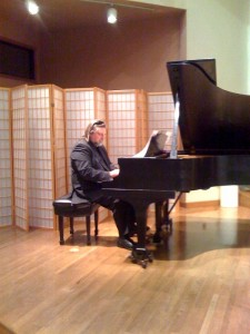 Russian pianist Valery Grohovski played jazz interpretations of Bach and Mozart in Austin, Texas, on January 20, 2012. Photo by Donna Welles.