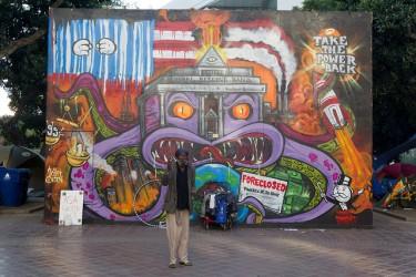 Fed Monster Mural in Los Angeles