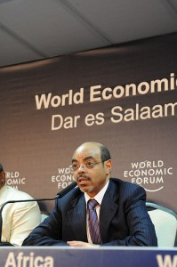 Meles Zenawi (Prime Minister of Ethiopia) at the World Economic Forum in Dar es Salaam, Tanzania, May 2010. Photo courtesy of World Economic Forum (CC BY-SA 2.0)