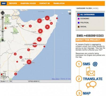 Carta della Somalia sul progetto Somalia speaks di Al Jazeera